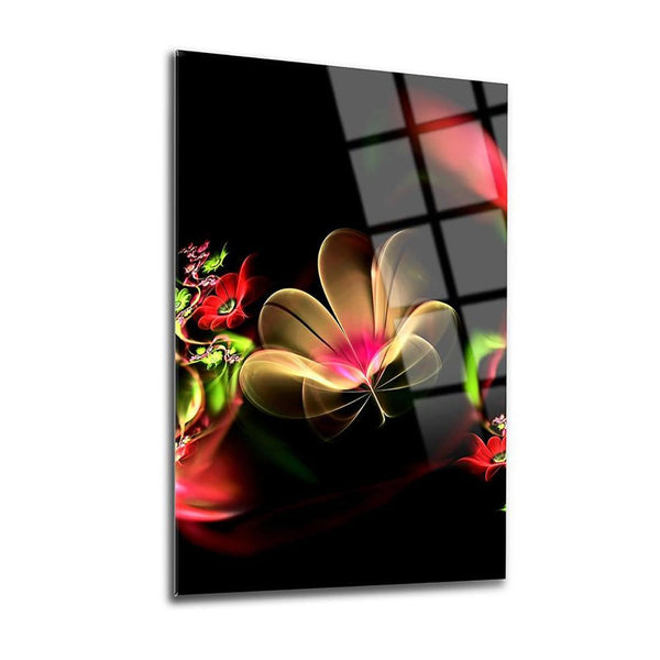 The Night's Flower Glass Print Wall Art