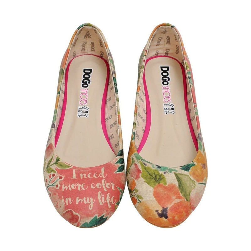 I Need More Color In My Life Women's Ballet Flats Shoes image2