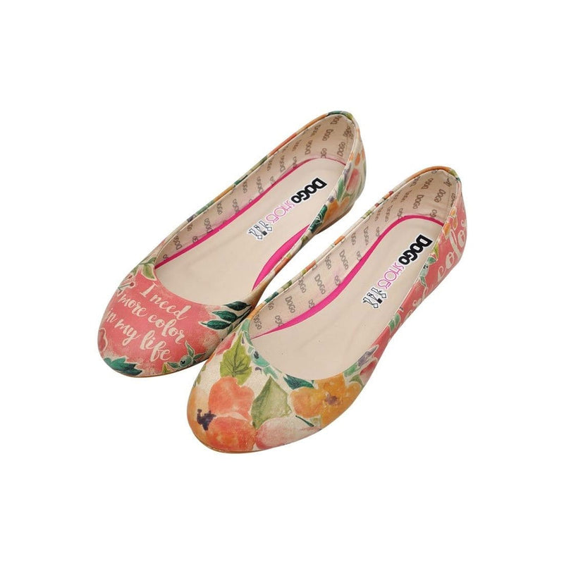 I Need More Color In My Life Women's Ballet Flats Shoes image1