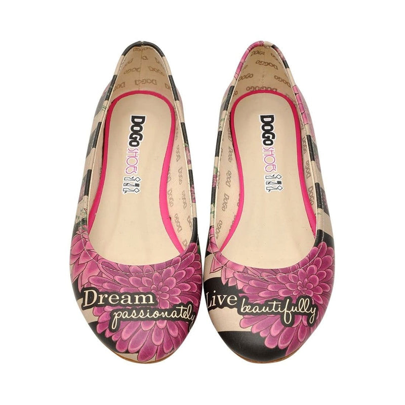 Dream And Live On Women's Ballet Flats Shoes image2