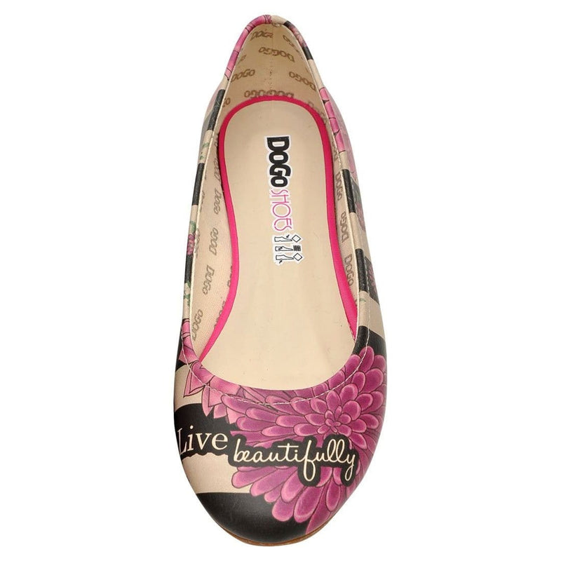 Dream And Live On Women's Ballet Flats Shoes image5