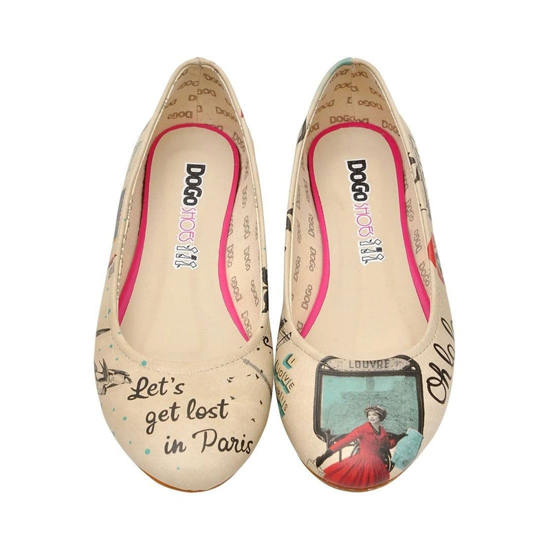 Lets Get Lost in Paris Women's Ballet Flats Shoes image2