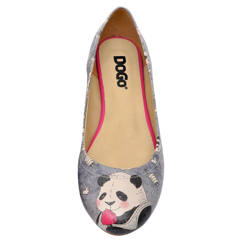 Happy Icecream Panda Women's Ballet Flats Shoes image5