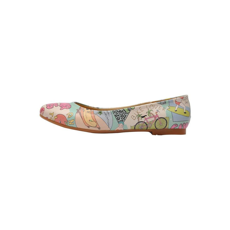 Summer Vibes Women's Ballet Flats Shoes image3