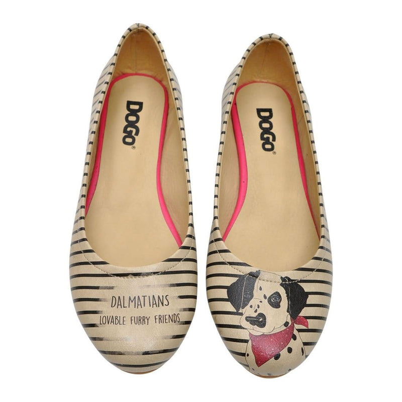 Dalmatian Women's Ballet Flats Shoes image2