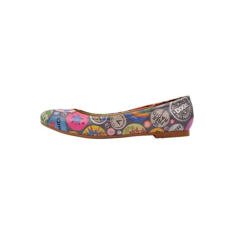 Badge Mania Women's Ballet Flats Shoes image3