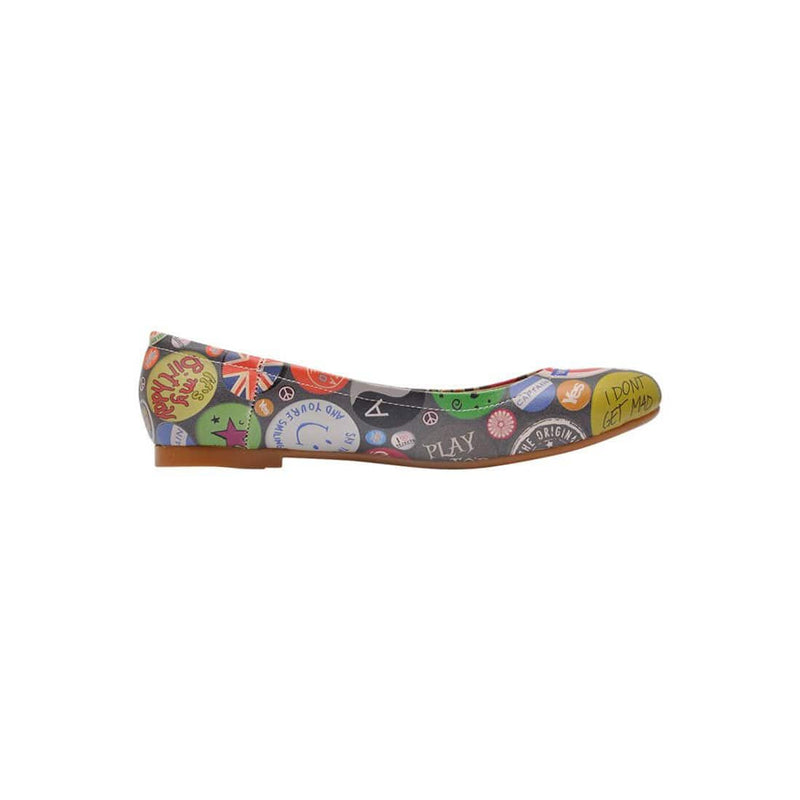 Badge Mania Women's Ballet Flats Shoes image4