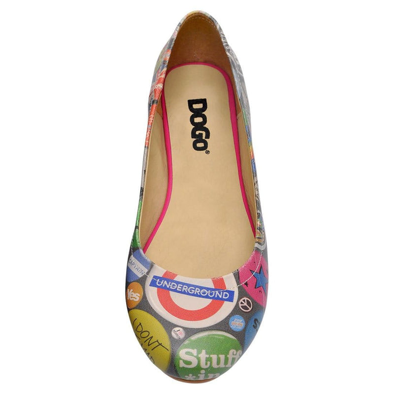 Badge Mania Women's Ballet Flats Shoes image5