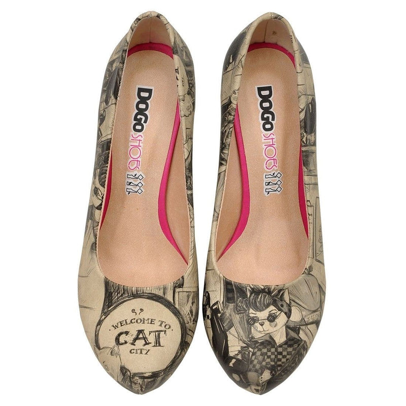 Cat City Life Dogo Women's High Heel Shoesimage2