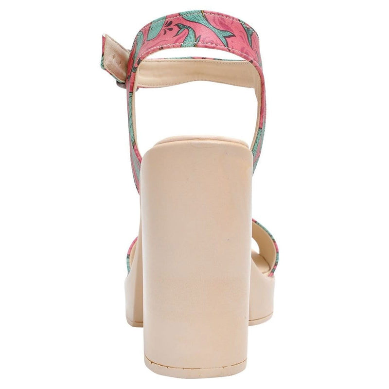 Whales in Pink Dogo Women's Heel Shoesimage6