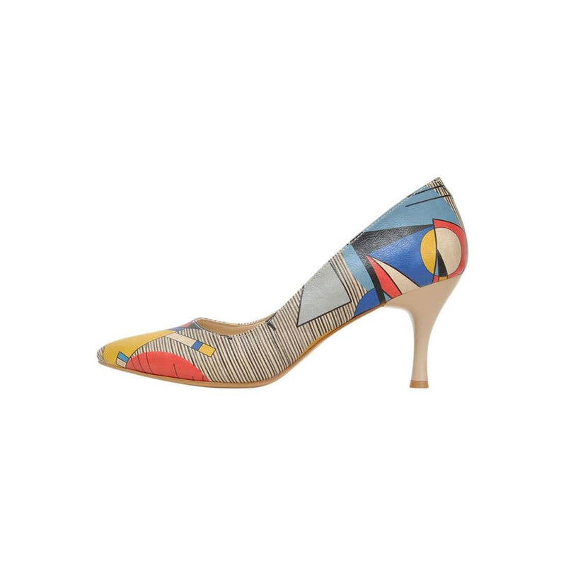 Geo Lines Dogo Women's Heel Shoesimage3
