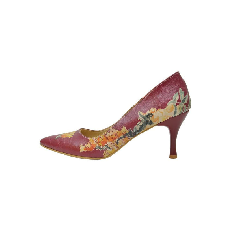Yellow Flower Dogo Women's Heel Shoesimage3