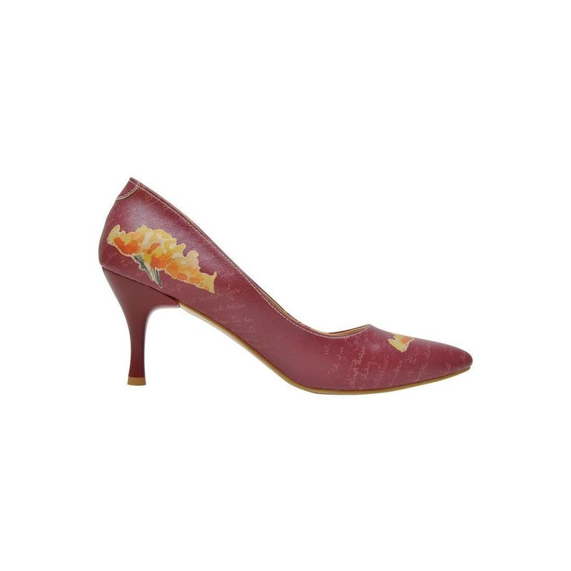 Yellow Flower Dogo Women's Heel Shoesimage4