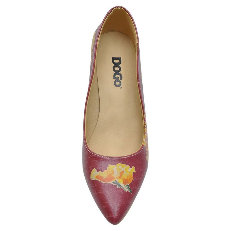 Yellow Flower Dogo Women's Heel Shoesimage5