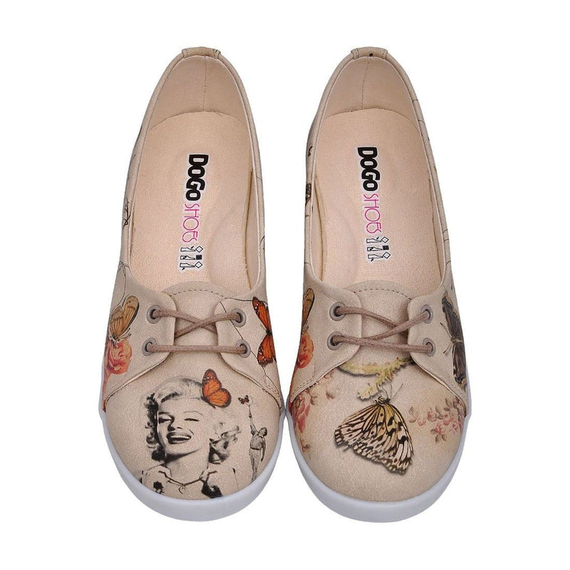 Marilyn With Butterflies Dogo Women's Flat Shoesimage2