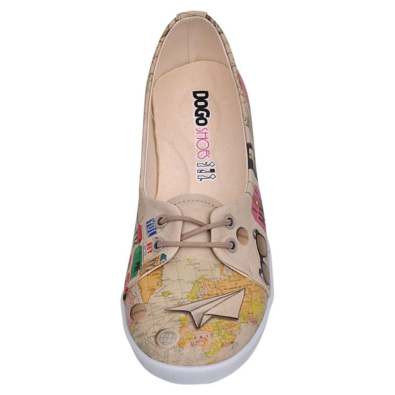 Travel Lover Dogo Women's Flat Shoesimage5