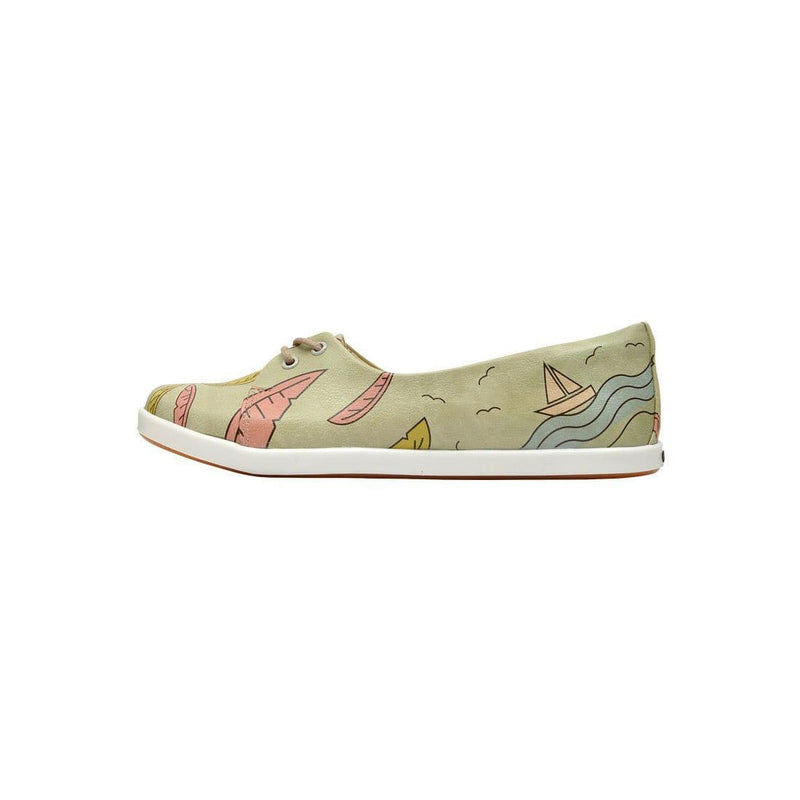 Palm Leaves Dogo Women's Flat Shoesimage3
