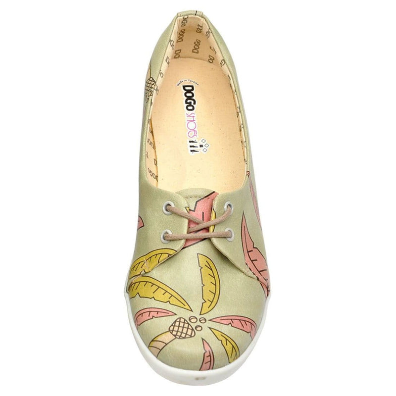 Palm Leaves Dogo Women's Flat Shoesimage5