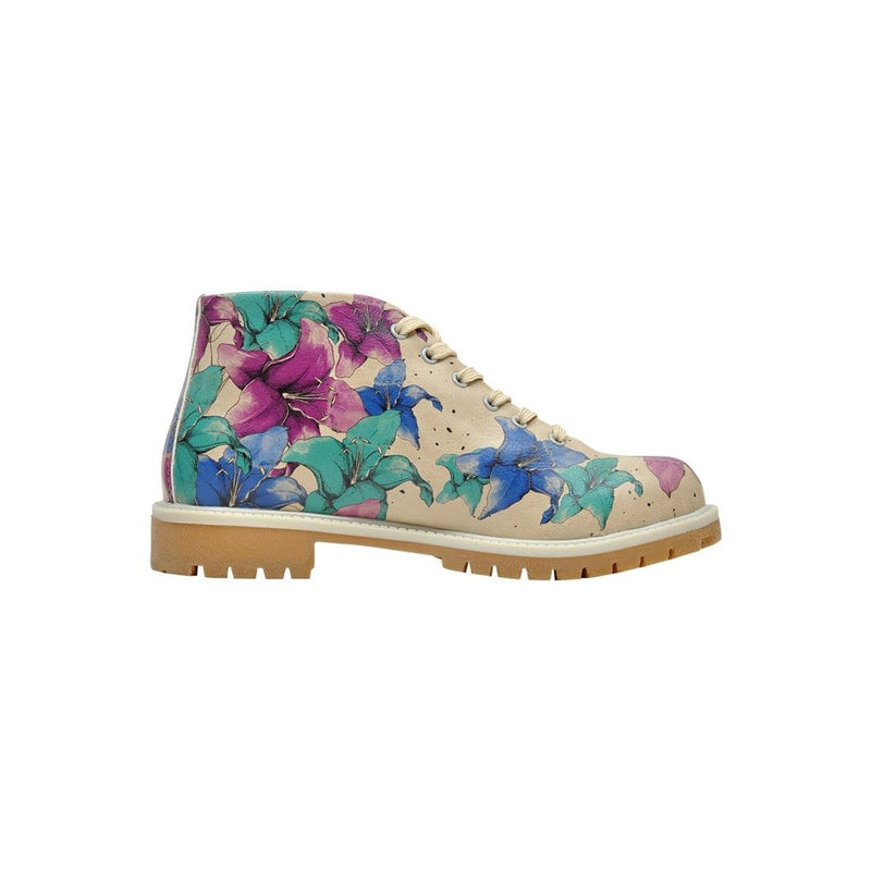 Purple Blue And Blue Dogo Women's Short Boots image4