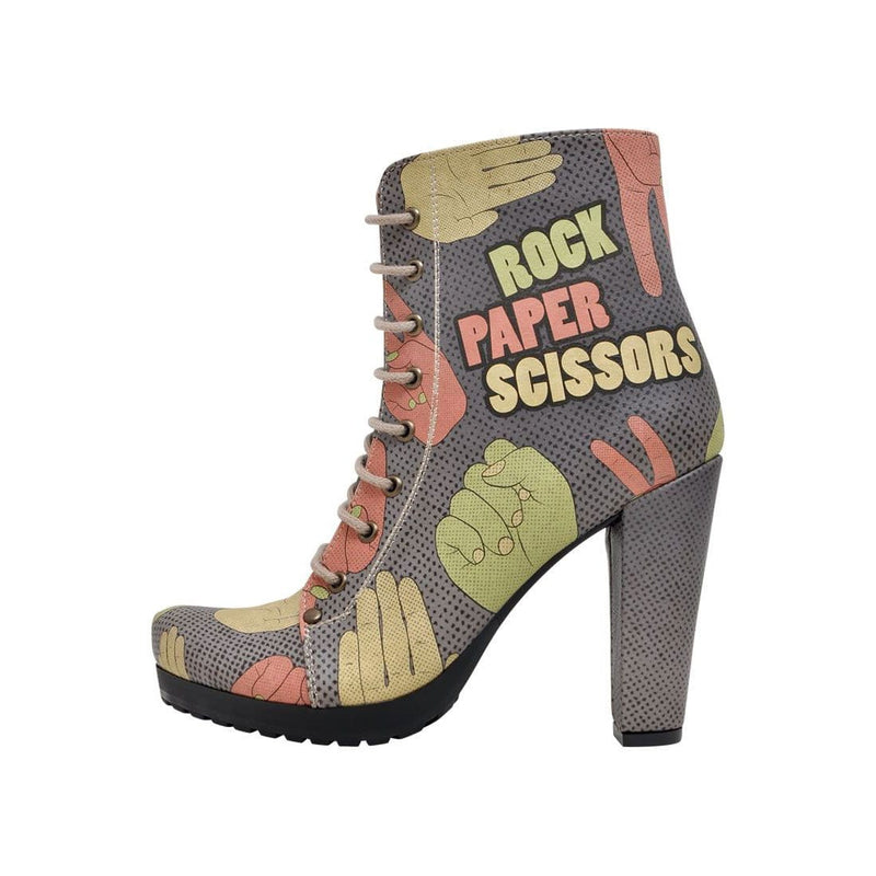 Rock Paper Scissors Dogo Women's Booties image3