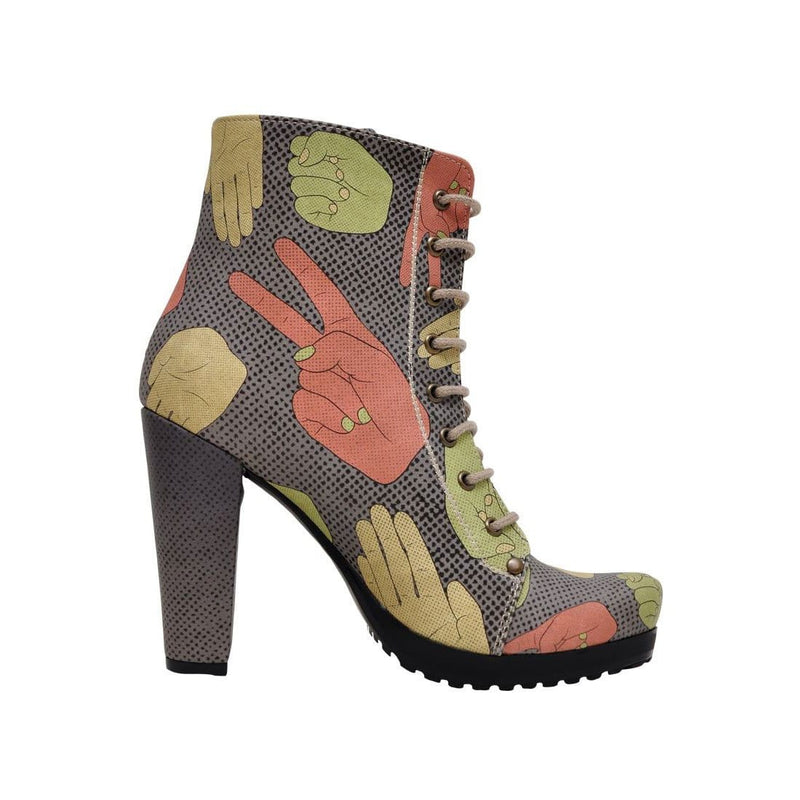 Rock Paper Scissors Dogo Women's Booties image4