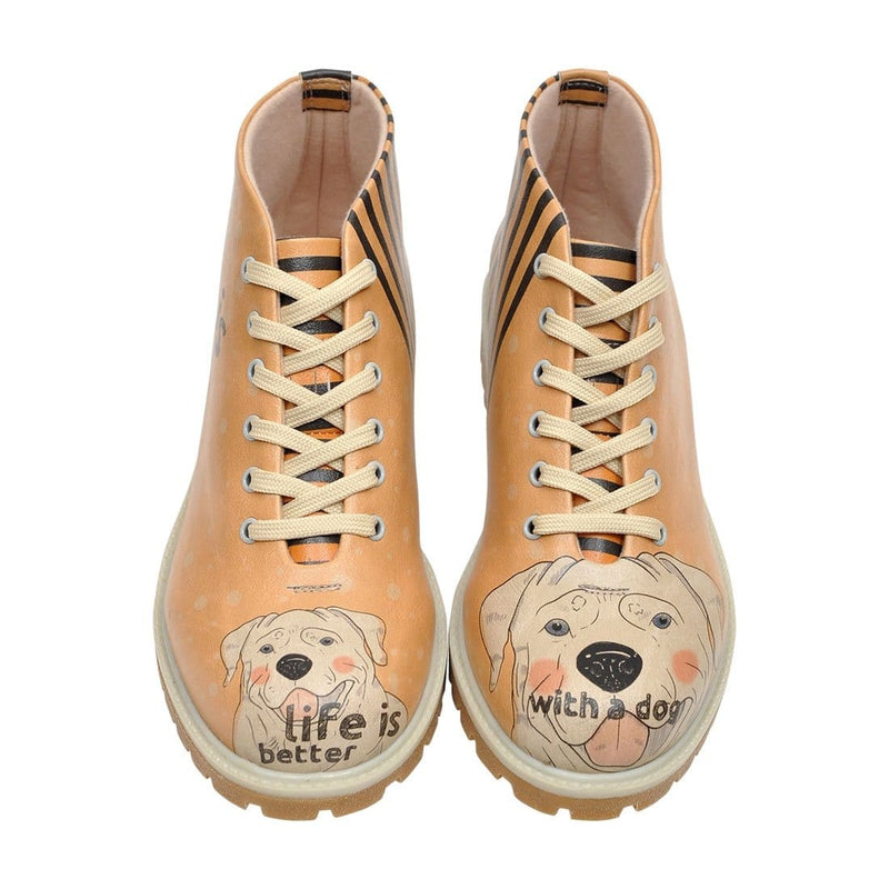 Life Is Better With A Dog Dogo Women's Short Boots image1