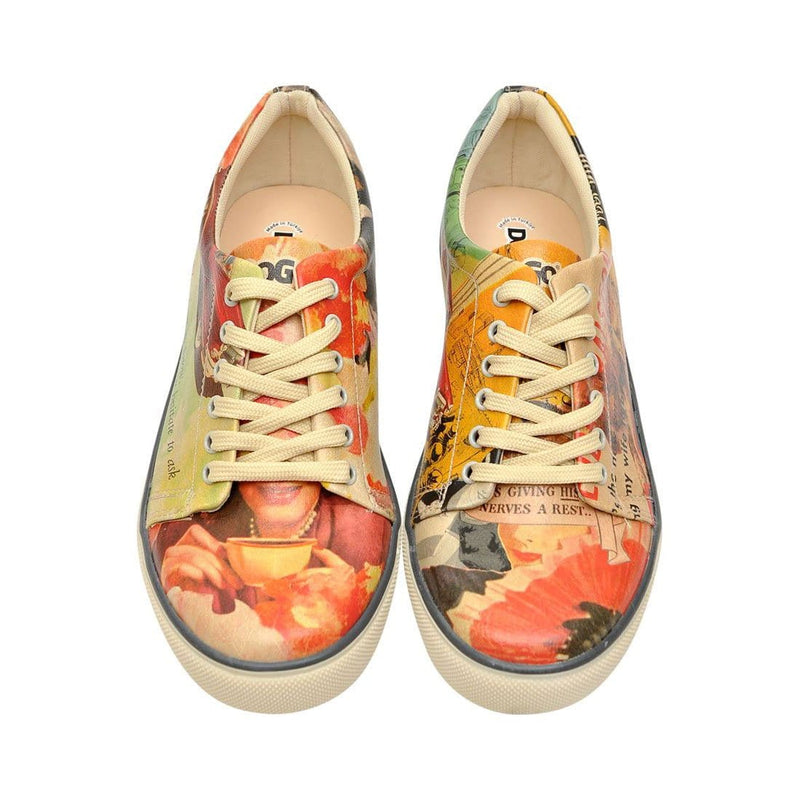 Retro Collage DOGO Women's Sneakers image 2