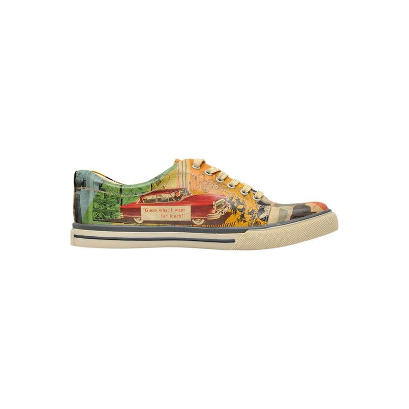 Retro Collage DOGO Women's Sneakers image 4