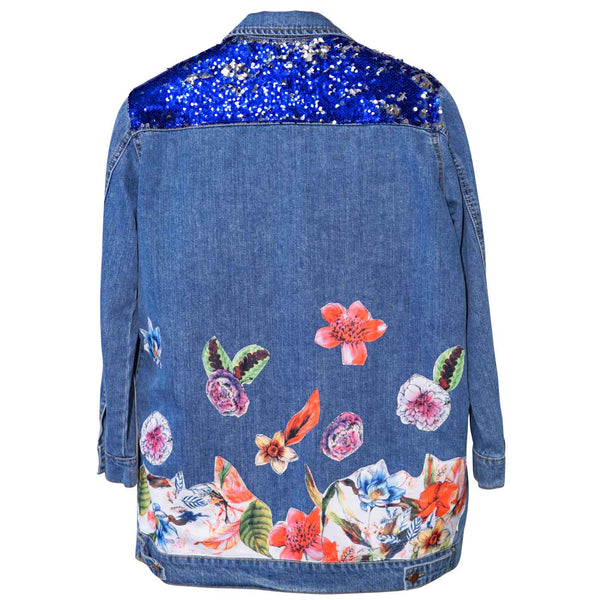 Flowers Women Denim Jacket