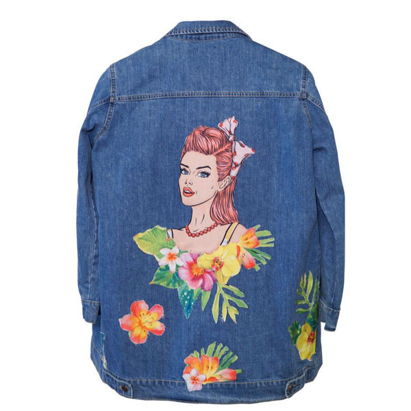Bloom Girl Women Denim Jacket
