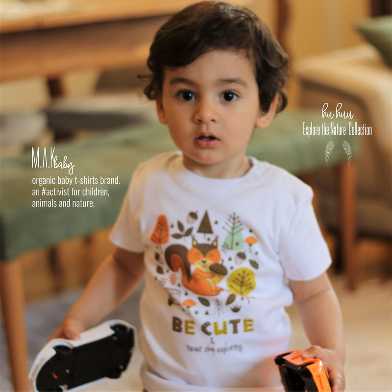 BE CUTE Organic Aegean Cotton Unisex Baby T-shirt