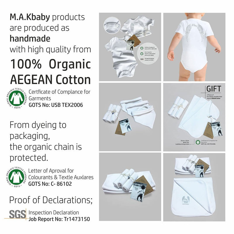Organic Aegean Cotton TWO-PLY Bip Clothes Set 3 Pack + GIFT 3  Handkerchief