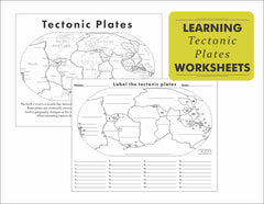 Image linking to tectonic plate printable worksheets by Where Exactly Maps