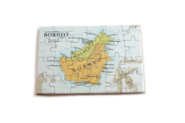 Magnetic jigsaw puzzle of Borneo by Where Exactly Maps