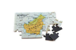 Borneo magnetic map puzzle