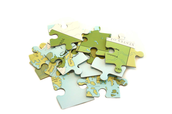 Political Map of Canada 70 piece jigsaw puzzle for kids by Where Exactly Maps
