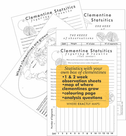 Clementine Statistics worksheets by Where Exactly Maps