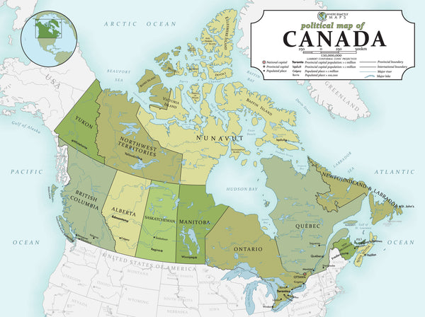 70 piece jigsaw puzzle showing political map of Canada for kids
