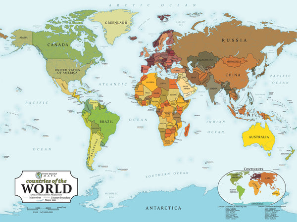 70 piece jigsaw puzzle showing political map of The World for kids