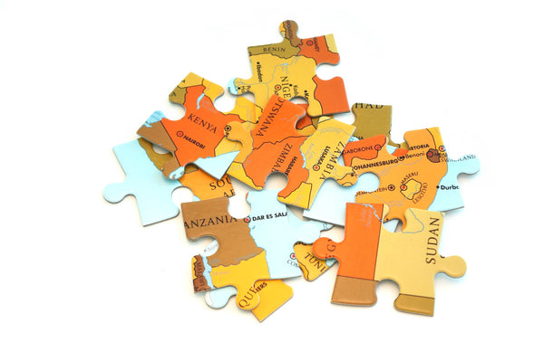 Map puzzle of Africa for kids Map puzzle of Africa for children Children's map puzzle Kid's Map puzzle