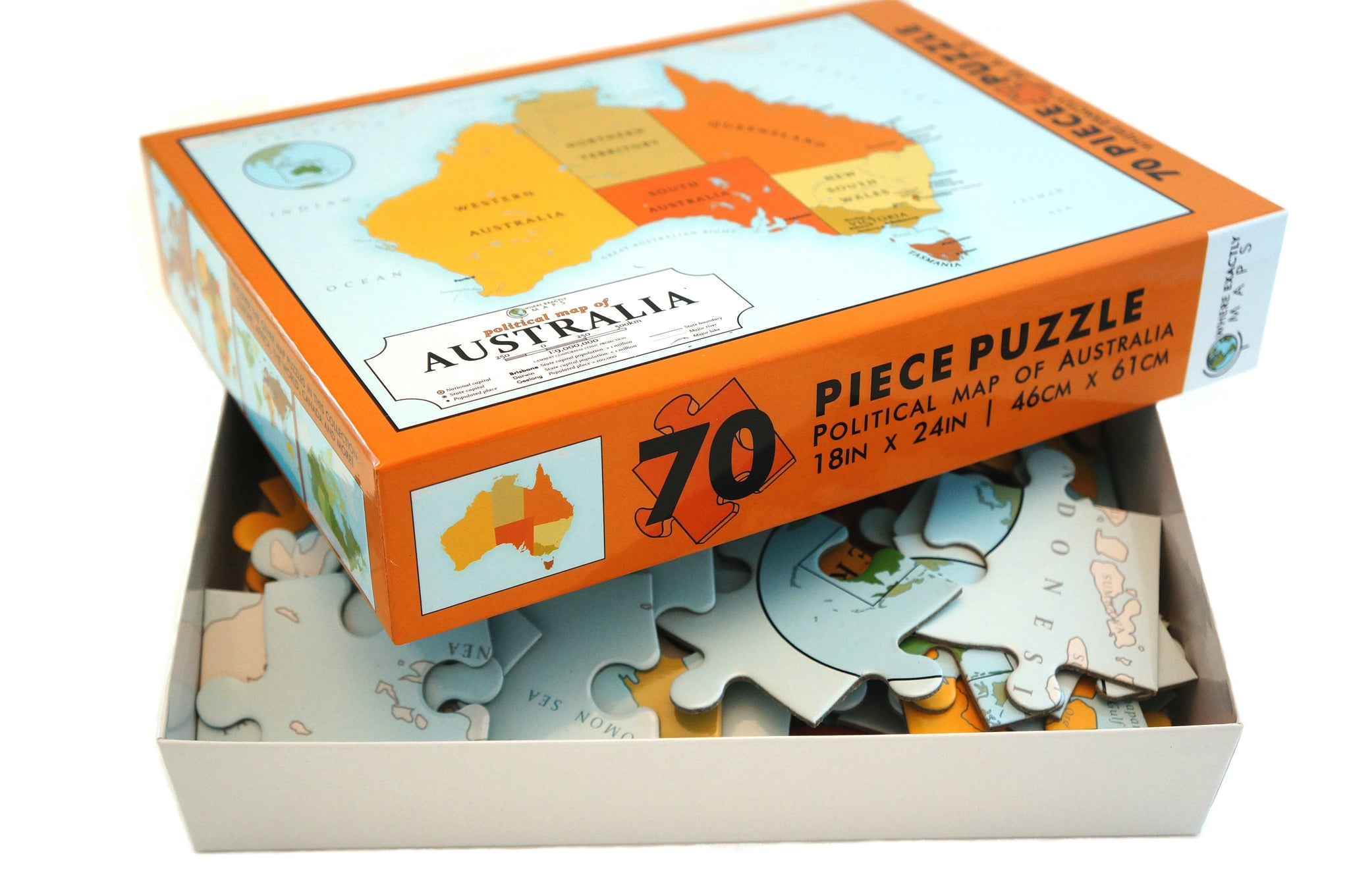 Map puzzle of Australia for kids Map puzzle of Australia for children Children's map puzzle Kid's Map puzzle