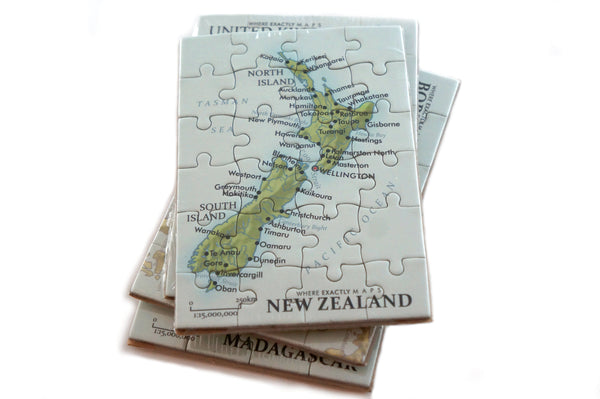 New Zealand magnetic map puzzle Where Exactly Maps
