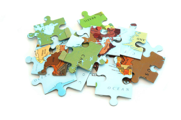 Political Map of The World 70 piece jigsaw puzzle for kids by Where Exactly Maps