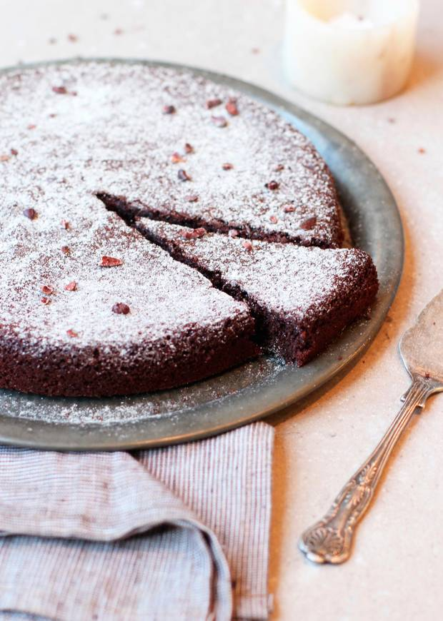 Olive Oil and Coconut Sugar Chocolate Cake
