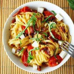 Summer Pasta and Caprese Salad