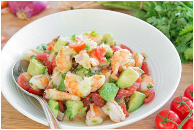 Avocado Lime Shrimp Salad