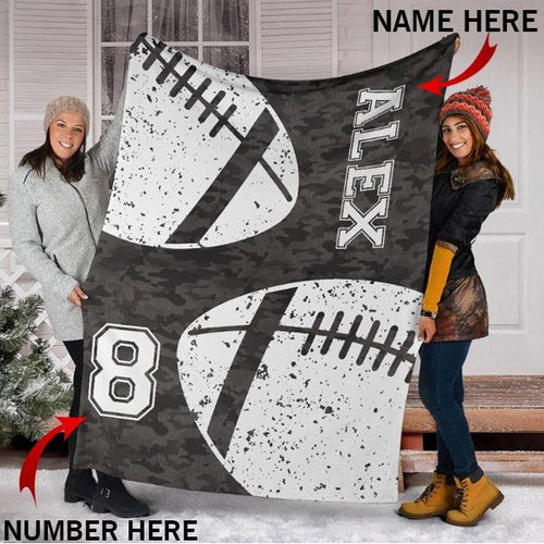 Custom Football Camo Blanket - KA2409196NH