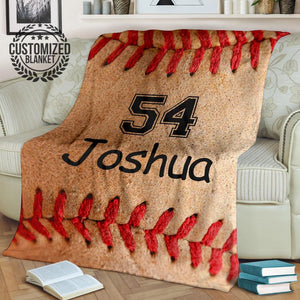 Custom Baseball Laces Blanket - PH031019OA