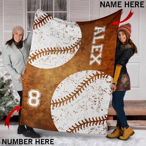 Custom Baseball Brown Blanket - KA2709197NH