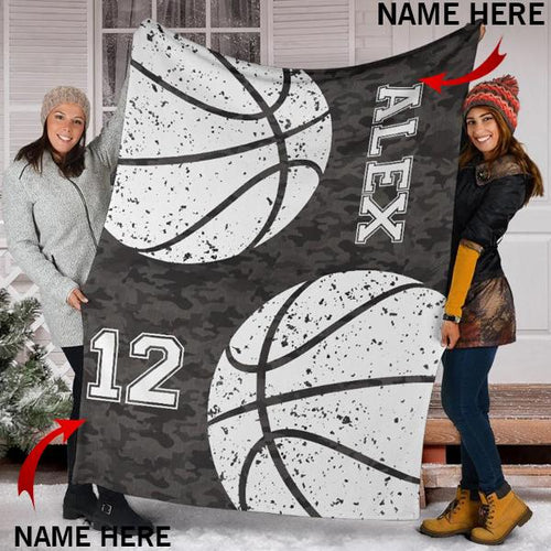 Custom Basketball Camo Blanket - KA2609191OA